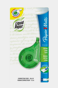 Papermate Dryline Liquid Paper White Correction Tape Extra Long Rewind 0 1 Oz