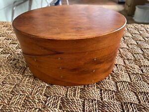 Frye S Measure Mill Oval Pantry Sewing Shaker Box Handmade Woodware 8 25