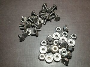 25 Pcs 8 32 X 3 8 Stainless Grille Rivet Screws Flange Nuts Ford Lincoln