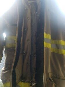 Sz 46 Morning Pride Turnout Bunker Coat Fire Fighting Firefighter Gear Used