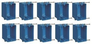 10 Pack New Work B120a 1 gang 20 Cu In Pvc Outlet Switch Electrical Box