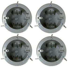 4 Pack Ceiling Round Old Work Electrical Box 1 gang 18 Cubic Inch