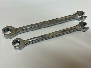 Snap on Tools 2 Pc Double Flare Nut Line Wrench Set Rxh1214s Rxh1618s Usa