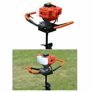 52cc 2 stroke Gas Powered Post Hole Digger Auger Borer Drill 4 6 8 Bits 1 9w