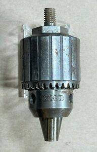 Vintage Jacobs 6b Drill Chuck Taper 0 1 2 Capacity Thread 1 2 20 Usa Made