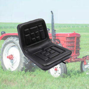 Tractor Seat Universal Lawn Mower Tractor Seat Black Pu Leather W A Drain Hole