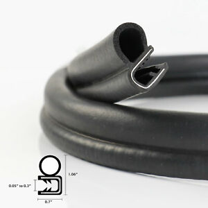 Reduce Noise During High Speed Driving Rubber Seal Edge Trim Weather Strip 216