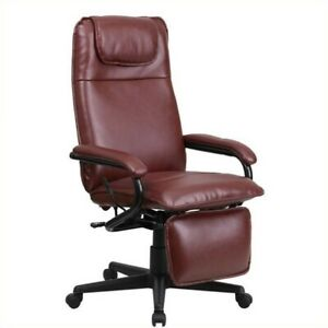 Scranton Co High Back Leather Reclining Office Chair In Burgundy