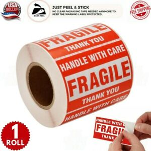 Please Handle With Care Fragile Thank You Stickers 2x3 500 Per Roll