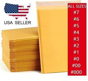 Kraft Bubble Mailers Shipping Bags Mailing Padded Self Seal Envelope Any Size