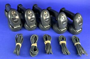 Symbol Motorola Ds6878 Barcode Scanner Wireless Cradle Usb Cable Lot Of 5