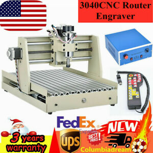 Usb 3 Axis Cnc 3040 Router Engraver Wood Drill milling Machine Handwheel 400w