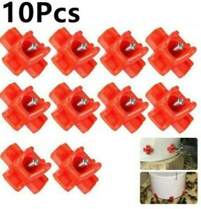 Waterer Poultry Automatic Chicken Drinker Feeder Filled Livestock Mount