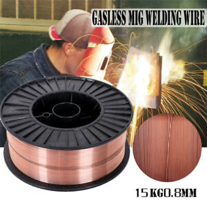 33 Lb Roll Gasless Flux core Mild Steel Mig Welding Wire 0 03inch All positional