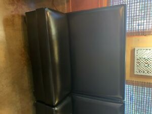 Restaurant Booth 48 l X 42 h Double Side Booth Black