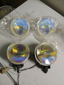 Piaa 510 Ion Fog Lamps Pair 2 Extra Lenses Sunny Rx3 Z30 Yellow Round Lights
