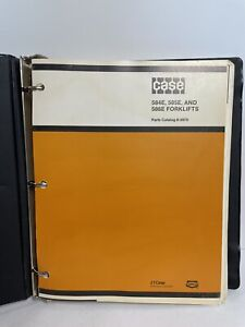 Case Forklifts 584e 585e 586e Parts Catalog Owner Manual 8 2870 With Binder