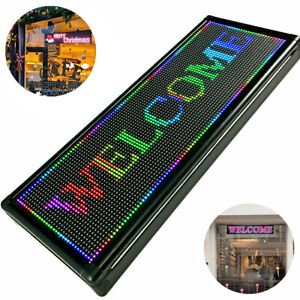 P10 40x15 Inch Led Sign Full Color Programmable Scrolling Message Display Banner