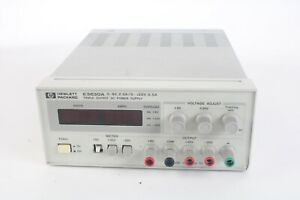 Hp Agilent E3630a Triple Output Dc Power Supply 0 6v Missing 1 Meter Button