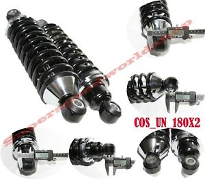 Rear Street Rod Coil Over Shock Set W 180 Pound Black Coated Springs