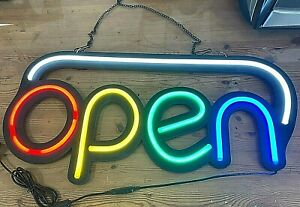 Large Led Bright Open Red yellow green blue Colors Hanging Billboard Sign