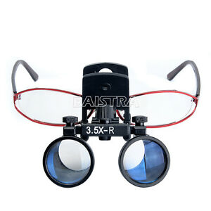 Dental Magnifying Loupes Surgical Binocular Glass Magnifier 3 5x r Clip Style