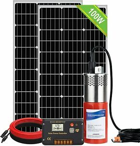 Solar Well Pump Kit For Watering 200w Solar Panel submersible 24v Water Pump