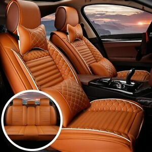 Car Seat Covers Fit For Toyota Tundra 2000 2021 Front Rear Seat Cushion Orange