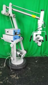 Surgical Microscope Carl Zeiss Opmi Cs nc 31 System With Superlux 300 Dual Binoc