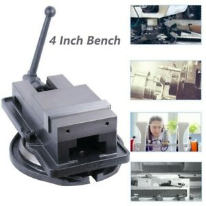 4 Inch Bench Clamp Lock Vise With 360 Swivel Base Milling Machine Movable Type