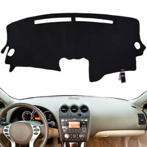 Front Dash Cover Mat Dashboard Pad Black Carpet For Nissan Altima 2007 2012