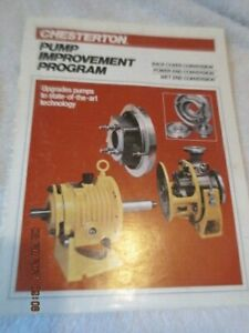 A w Chesterton Stainless Steel Centrifugal Pump improvement Program Manual
