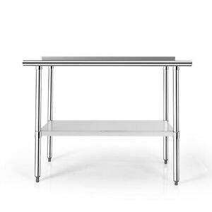 Costway 24 X 48 Stainless Steel Table Nsf Commercial Kitchen Island W Shelf