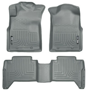 Husky Liners Weatherbeater Floor Mats Grey For 05 15 Toyota Tacoma Double Crew