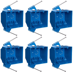6 Pack Carlon 2 gang B232a New Work Outlet Switch Electrical Box 32 Cubic Inch