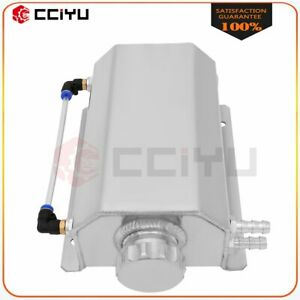 Radiator Coolant Overflow Expansion Water Tank 2000ml Silver Aluminum Universal