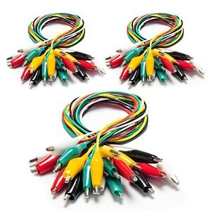 10 30 50 100pcs Electrical Alligator Clips With Wires Test Leads Sets For Fluke