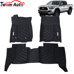 All Weather Floor Mats Liners Protection For 2018 2021 Toyota Tacoma Crew Cab Us