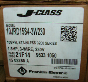Franklin 10jrd15s4 3w230 4 Submersible Pump 1 1 2 Hp Stainless Steel 230vac