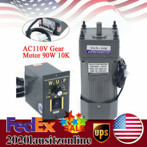 Ac Gear Motor Electric Variable Speed Controller Torque 0 135rpm 90w 110v Us