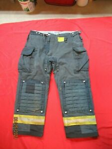 Morning Pride Fire Fighter Turnout Pants 42 X 31 Black Bunker Gear Rescue