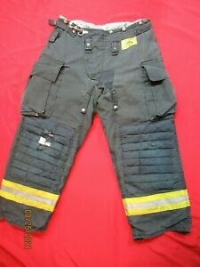 Morning Pride Fire Fighter Turnout Pants 36 X 29 Black Bunker Gear Rescue