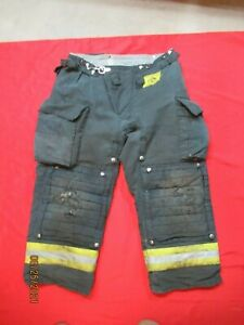 Morning Pride Fire Fighter Turnout Pants 36 X 26 Black Bunker Gear Rescue