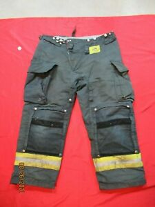 Morning Pride Fire Fighter Turnout Pants 40 X 28 Black Bunker Gear Rescue