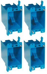 4 Pack B120r 1g 1 gang Old Work Box 20 Cubic Inch Switch Outlet Electrical Box