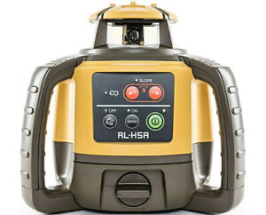 Topcon Rl h5a Self leveling Rotary Grade Laser Level W Tripod And 14 Rod Inches
