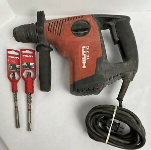 Hilti Te 7 c 120v Rotary Hammer Drill With 3 8 1 2 Bits Tested Works
