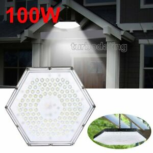 100w Led High low Bay Light Chain Mount Warehouse Industrial Shed Shop Lighting