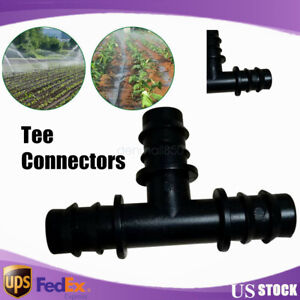 200pcs 3 Way Tee Connectors For Agricultural Drip Irrigation Pipe Fitting 1 2
