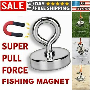 1 Neodymium Round Base Magnet With Thread Strong Pull Permanent Rare Earth Hook